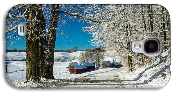 Winter In Vermont Galaxy S4 Case by Edward Fielding