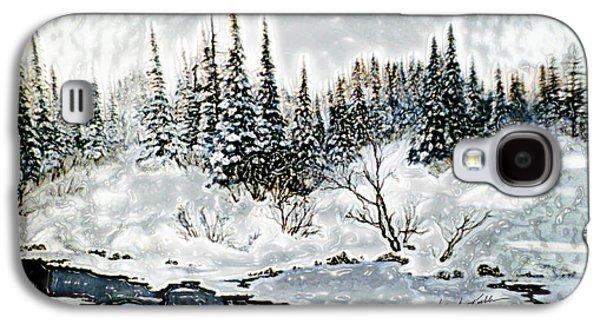 Winter Lake Sunset 2 Galaxy S4 Case by Hanne Lore Koehler