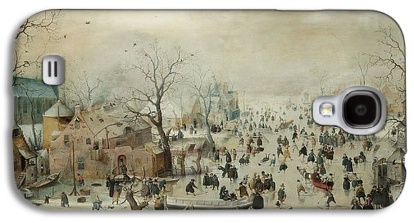 Winter Landscape With Skaters Galaxy S4 Case