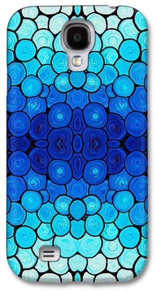 Winter Lights - Blue Mosaic Art By Sharon Cummings Galaxy S4 Case