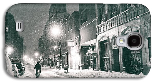 Winter Night - New York City - Lower East Side Galaxy S4 Case by Vivienne Gucwa
