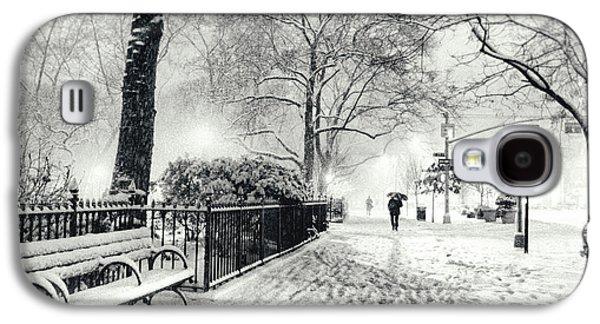 Winter Night - Snow - Madison Square Park - New York City Galaxy S4 Case by Vivienne Gucwa
