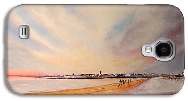 Winter On St Andrews Scotland Galaxy S4 Case by Beatrice Cloake
