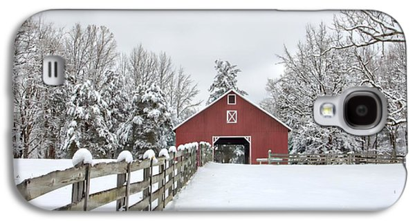 Winter On The Farm Galaxy S4 Case by Benanne Stiens
