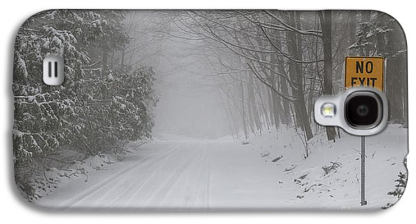 Winter Road During Snow Storm Galaxy S4 Case
