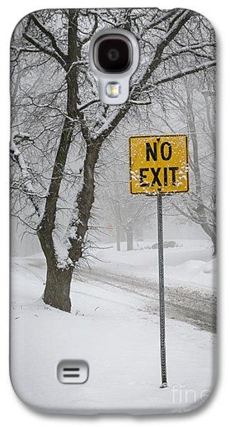 Winter Road During Snowfall IIi Galaxy S4 Case