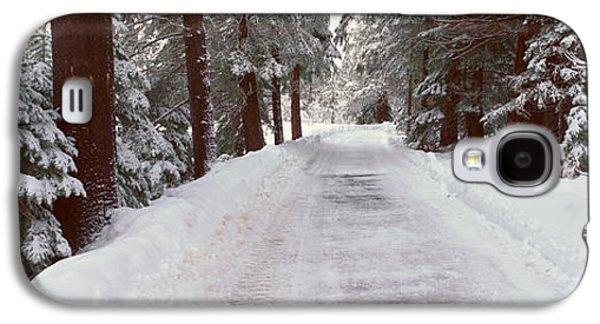 Winter Road Near Lake Tahoe, California Galaxy S4 Case