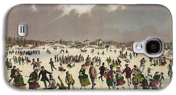 Winter Scene Circa 1859 Galaxy S4 Case