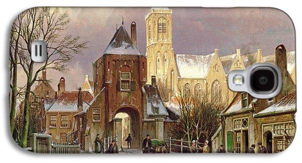 Winter Scene In Amsterdam Galaxy S4 Case by Willem Koekkoek
