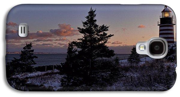Winter Sentinel Lighthouse Galaxy S4 Case