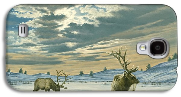 Bull Galaxy S4 Case - Winter Sky-elk   by Paul Krapf