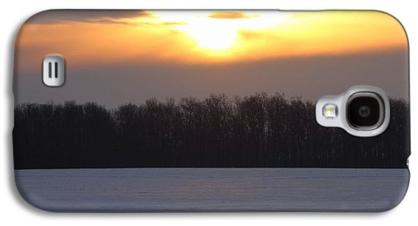 Winter Sunrise Over Forest Galaxy S4 Case by Dan Sproul