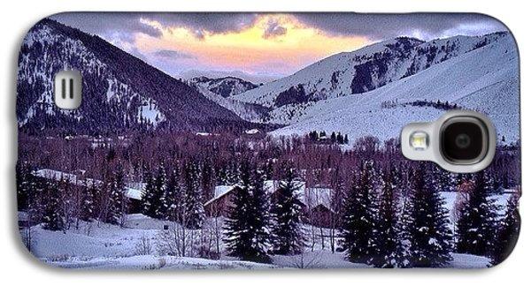 #winter #sunsets #ketchum #idaho Galaxy S4 Case