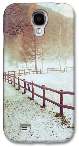 Winter Tree With Fence Galaxy S4 Case by Silvia Ganora