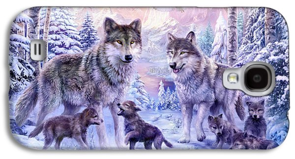 Winter Wolf Family  Galaxy S4 Case