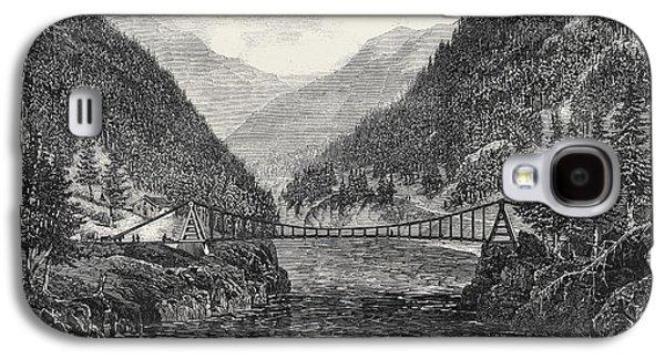 Wire Suspension Bridge Over The Fraser River British Galaxy S4 Case by English School