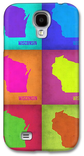 Wisconsin Pop Art Map 2 Galaxy S4 Case by Naxart Studio