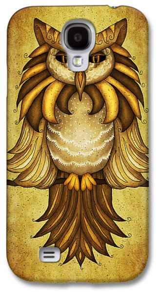 Wise Owl Galaxy S4 Case by Brenda Bryant