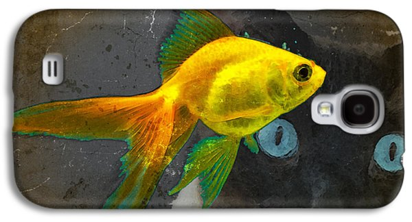Wishful Thinking - Cat And Fish Art By Sharon Cummings Galaxy S4 Case by Sharon Cummings