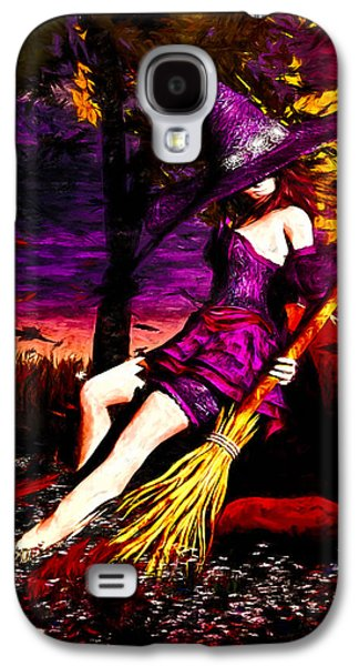 Witch In The Pumpkin Patch Galaxy S4 Case by Bob Orsillo