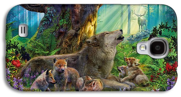 Wolf And Cubs In The Woods Galaxy S4 Case by Jan Patrik Krasny