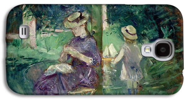 Woman And Child In A Garden Galaxy S4 Case by Berthe Morisot