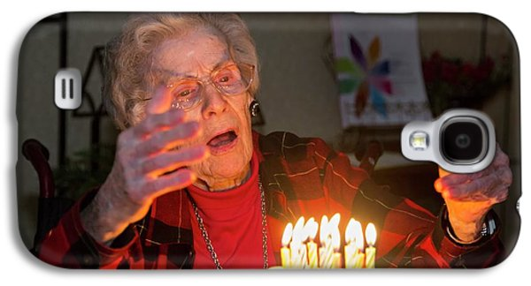 Woman Celebrating Her 99th Birthday Galaxy S4 Case