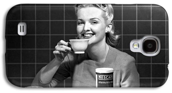 Woman Drinking Nescafe Galaxy S4 Case