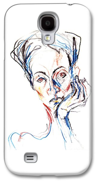 Woman Expression Galaxy S4 Case by Marian Voicu