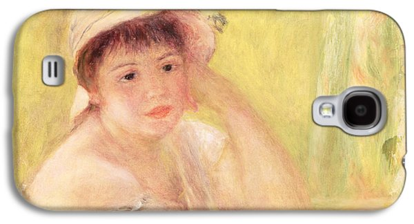 Woman In A Straw Hat, 1879 Galaxy S4 Case by Pierre Auguste Renoir