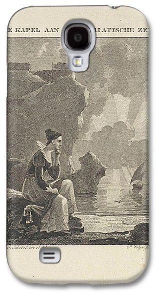 Woman Looking Out Over The Sea, Philippus Vellum Galaxy S4 Case by Philippus Vellum