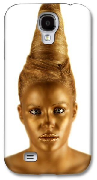 Woman With A Golden Face Galaxy S4 Case by Darren Greenwood