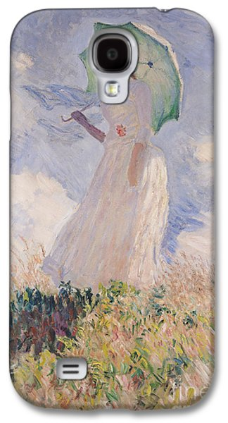 Woman With Parasol Turned To The Left Galaxy S4 Case