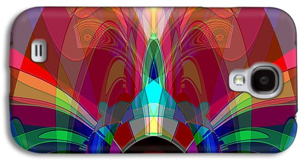 612 - Wondrous Machine Outburst  Galaxy S4 Case by Irmgard Schoendorf Welch