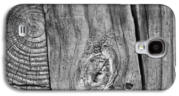 Wood Black And White Galaxy S4 Case