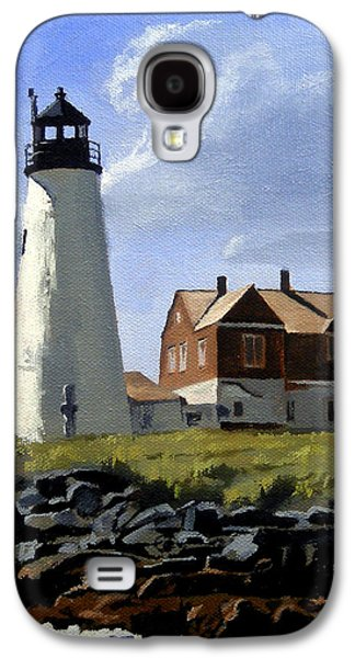 Wood Island Lighthouse Maine Galaxy S4 Case by Christine Hopkins