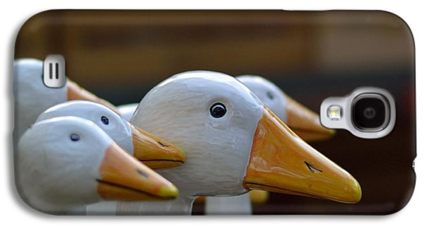 Decorative Galaxy S4 Case - Wooden Geese by Bunny My Yummy