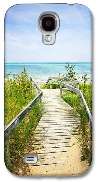 Wooden Walkway Over Dunes At Beach Galaxy S4 Case