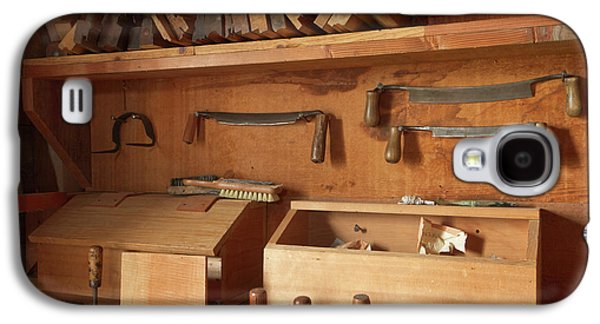 Woodworking Tools In Carpentry Shop Galaxy S4 Case by William Sutton