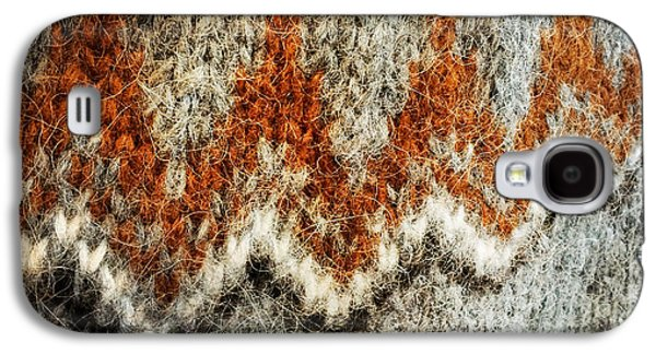 Woolen Jersey Detail Grey And Orange Galaxy S4 Case