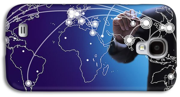 World Economies Map Galaxy S4 Case