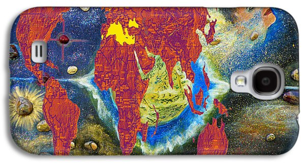 World Map And Barack Obama Stars Galaxy S4 Case by Augusta Stylianou