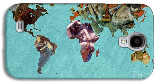 World Map Degas 2 Galaxy S4 Case by John Clark