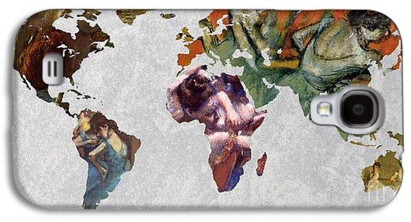 World Map Degas 3 Galaxy S4 Case by John Clark