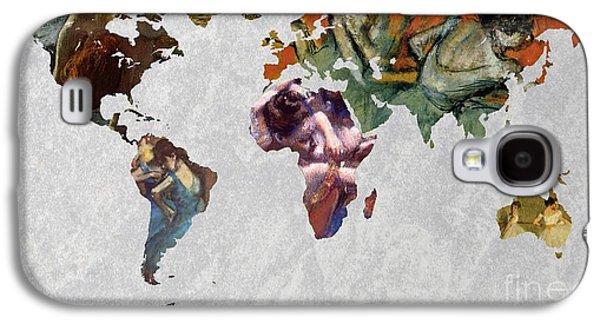 World Map   Degas 4 Galaxy S4 Case by John Clark
