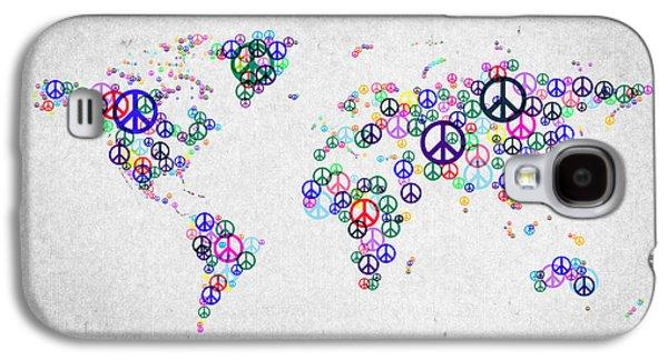 World Peace Map Galaxy S4 Case