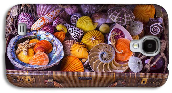 Worn Suitcase Full Of Sea Shells Galaxy S4 Case by Garry Gay