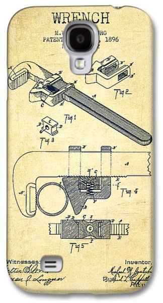 Wrench Patent Drawing From 1896 - Vintage Galaxy S4 Case