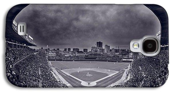 Wrigley Field Night Game Chicago Bw Galaxy S4 Case by Steve Gadomski