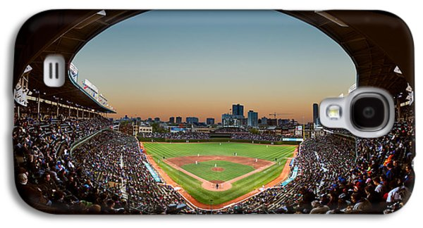 Wrigley Field Galaxy S4 Case - Wrigley Field Night Game Chicago by Steve Gadomski